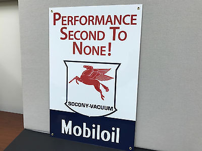 Mobil Oil  vintage advertising sign gasoline racing large Mobiloil