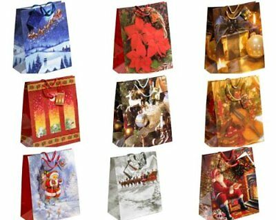 TSI 84217 Gift Bag Christmas Series 7, Pack of 6 Super Gigantic 73 x 49 x 18 cm
