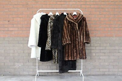 Vintage Wholesale Job Lot Faux Fur Coats X 10