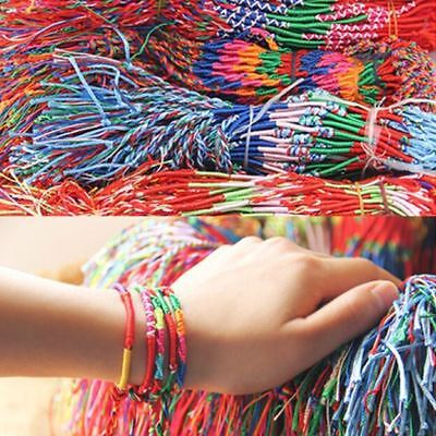 5 x Handmade Brazilian Woven Handmade Cotton Thread String Friendship Bracelets
