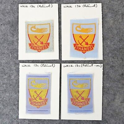 Collection of Rare New Zealand District Boy Scout Badges - Thames WAIK 13