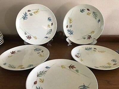 FRANCISCAN EARTHENWARE CHINA - Autumn Leaves - Five (5) DINNER PLATES