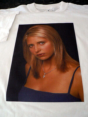 Buffy NO Vamp T/Shirt White Size M Gift Present LIMITED STOCK