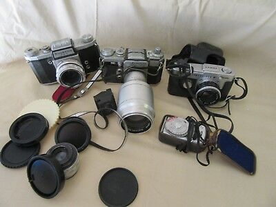Lot Of Vintage Cameras & Other Parts - Worn