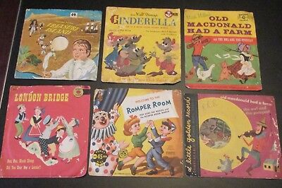 "LOT of 12 Vintage Children's Records 7"" 45s Disney Golden Peter Pan Spear more"