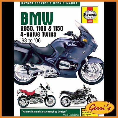 3466 Haynes BMW R850, 1100 & 1150 4-valve Twins 1993 - 2006 Workshop Manual
