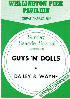 Great Yarmouth Wellington Pier 1979 'sunday Seaside Special' Programme.
