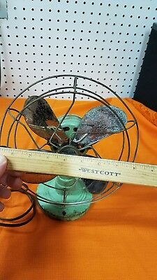 Antique ELECTREX Green Electric Fan 1920S 1930S WORKS RARE