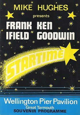 Great Yarmouth Wellington Pier 1976 'startime' Frank Ifield Programme.