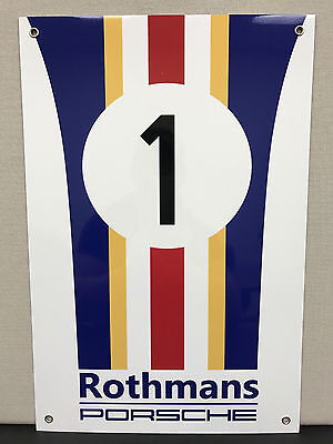 Le mans Lemans 24h Rothmans Team  racing metal garage sign