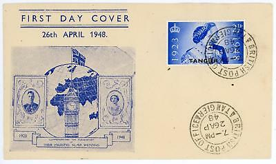 GB 1948 Silver Wedding 21/2d on TANGIER illustrated FDC