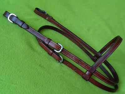 High QUALITY Double Stitched Leather Horse Show Training HEADSTALL Bridle~NO RES
