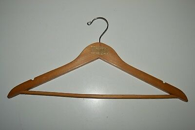 Vintage 1970s The NUGGET Casino Reno Nevada Wooden Clothes Hanger Rare