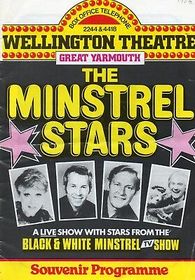 Great Yarmouth Wellington Pier 1983 'minstrel Stars' Joan Savage Programme.