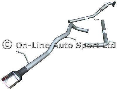 Seat Ibiza 1.9 TDi Sport  Race Tube Exhaust System inc De cat - ULTER OVAL TIP