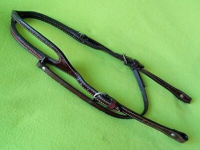 BILLY COOK Double Stitch Leather Work Training Pleasure HEADSTALL Bridle~NO RES!