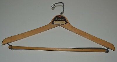 Vintage Society Brand Capitol Clothing Co Sacramento CA Wooden Clothes Hanger