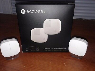 Ecobee3 Room Sensor 2 Pack with stands (10524-5AJ)