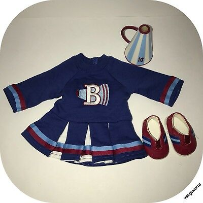 American Girl Bitty Baby 2008 Cheerleader Outfit Dress Megaphone Shoes Lot