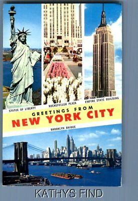 6 old postcards greetings from new york new york city 499 new york postcard u1214 greetings from new york city m4hsunfo