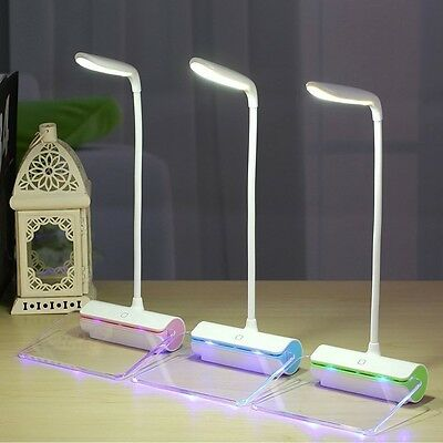 Portable LED Table lamp with Fluorescent Message Board  USB Port