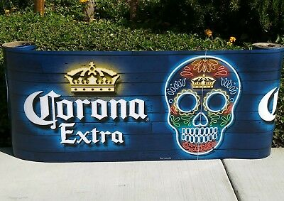 Corona Extra Dia De Los Muertos Beer Banner Roll Sign New
