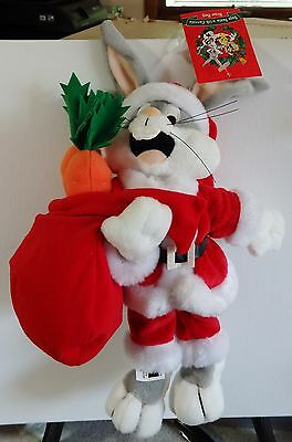 Warner Brothers 1999 Bugs Bunny Santa w/Carrots bean bag plush figure-New w/tags