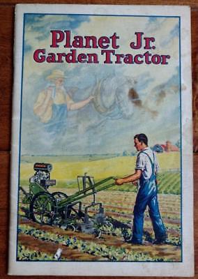 1931 Booklet PLANET JR. GARDEN TRACTOR With 2 Page Color Picture of Tractor