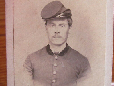 possible 18th Iowa Inf. & 62nd US Colored Troop Inf. soldier in New Orleans cdv