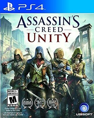 Playstation 4 Game Assassin's Creed Unity Brand New Sealed