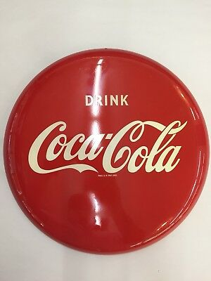 1950's vintage Coca Cola 12 Inch Button Sign N.o.S