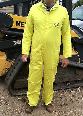 1 Nuclear Power Outfitters Size 44 MECHANIC PAINTER COVERALLS Yellow Costume
