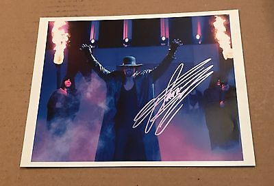 Wwe The Undertaker Autographed Wrestling Photo Rare Rip Taker 2
