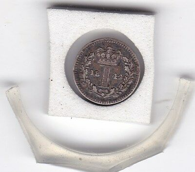 1844  Early  Queen Victoria  Maundy   Penny  (m1d) Silver (92.5%)  Coin