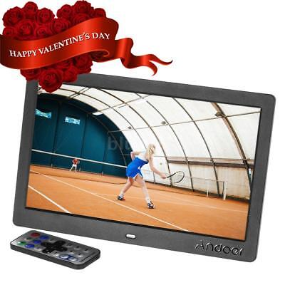 """Andoer 10"""" HD Digital Photo Picture Frame Video Player With Remote Control Z0W0"""