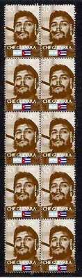 Che Guevara Strip Of 10 Mint Vignette Stamps 3