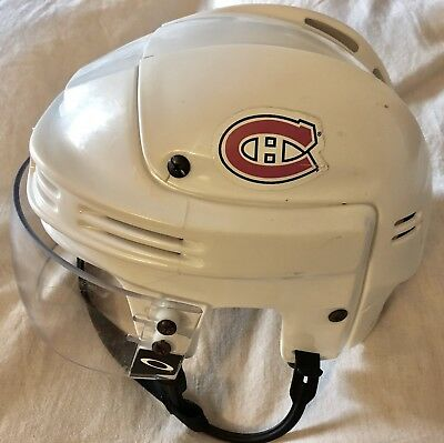Montreal Canadiens Game Worn Hockey Helmet - Higgins