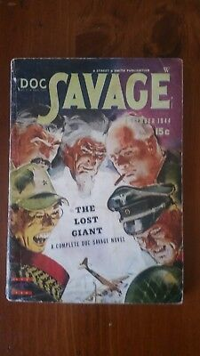 Doc Savage Pulp Magazine December 1944 in Very Good condition.