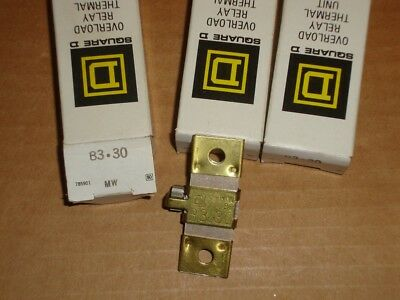 3X Square D Overload Heater B3.30 Lot of 3 New