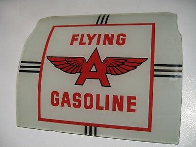 Flying A  A-38 Gas Pump Add Glass Original Vintage Vibrant A 38 A38 National