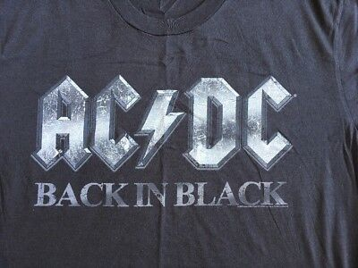 AC DC Back In Black T-shirt Tee Short Sleeve Mens Size L