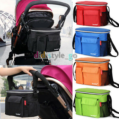 Waterproof Stroller Organizers bag Pram hanging Bag Diaper Bag Bottle Cup Holder