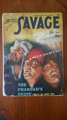 Doc Savage Pulp Magazine June 1944 in Good Plus condition.