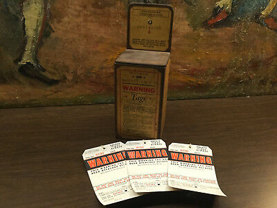 Antique Industrial Safety Warning Write Up Tag Box