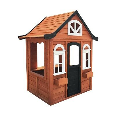 Adorable Wooden Outdoor Cubby House Pretend Play Fun Christmas Gift For Kids