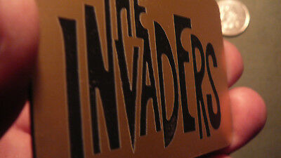 Invaders Logo,  The Invaders Name Plate... The invaders UFO, The Invaders TV