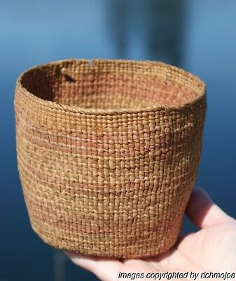 Very Fine Old Rare Northwest Coast Haida Indian Berry Basket Circa 1890