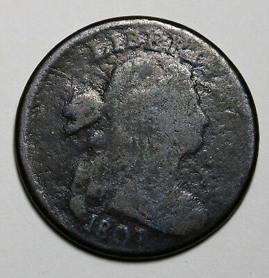1807 US Large Cent / Draped Bust Penny Rare Coin NR 1c Auction