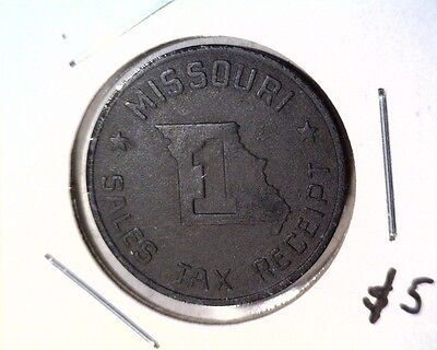 Missouri 1 cent Sales Tax Receipt Token Iron 23 mm