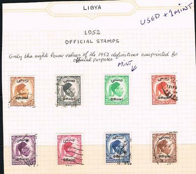 LIBYA 1952 officials used + 1 mint stamp